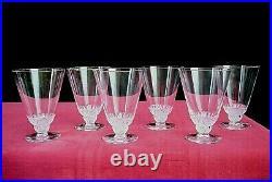 Rene Lalique Champigny 6 Wine Glasses 6 Verre A Vin Cristal Taillé Art Deco 1930
