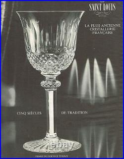 Saint Louis Tommy 4 Wine Glasses Verres A Vin A Eau 17 CM 17cm Cristal Taillé