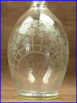 Service Carafes + Verres Cristal De Baccarat Epoque Art Deco Decor Raisin Grave