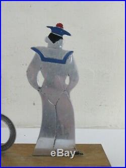 Sudre Art Deco Marin Marque Verre Drapeaux Cocktail Sailor Boy Cado France