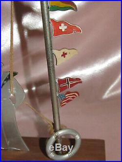 Sudre Art Déco marin 10 drapeaux marques-verres