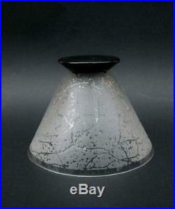 Superbe Coupe Vase Art Deco Verre Degage A L'acide Signe Daum Nancy