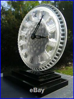 Superbe pendule ATO verre Lalique electric clock Art Déco