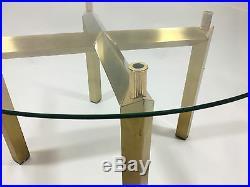 Table Basse Année 70 Dans Le Goût De Gabriella Crespi Avec Pied En Bronze