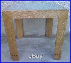 Table basse design style art deco dalle verre design style frank coffee cerusé