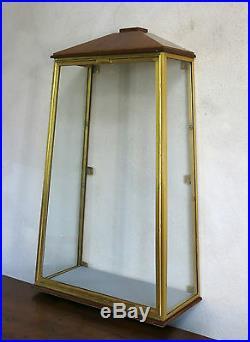 VITRINE de MAGASIN, ancienne vitrine verre et laiton, art déco, SUPERBE & RARE