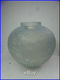 Vase Ancien René Lalique Modèle Gui Art Deco Verre Glass 1920 rare