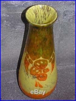 Vase Art Déco Le Verre Français Schneider à décor de Végétaux stylisés