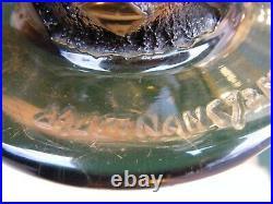 Vase Art Déco en Verre dégagé à l'acide Daum Nancy France