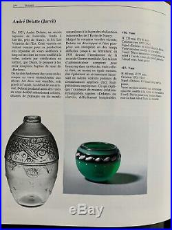 Vase Pate De Verre & Fer Forge Art Deco Andre Delatte Comme Daum Nancy Majorelle