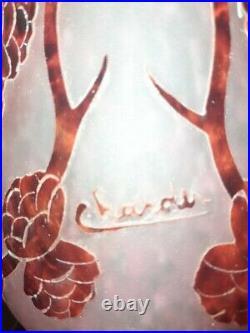 Vase Signé CHARDER Art Déco 1930s Schneider Le Verre Français