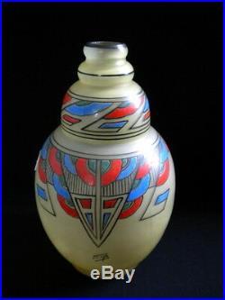 Vase en verre émaillé Art Déco JOMA