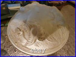 Vasque pour lustre suspension plafonnier lampe art déco signée Muller Frères