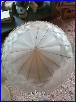 Vasque pour lustre suspension plafonnier lampe champignon art déco Degué Hubens
